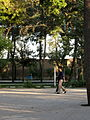 Iranian Man and his wife walking and talking - Mohammad Al Mahruq Mosque - Nishapur 4.JPG