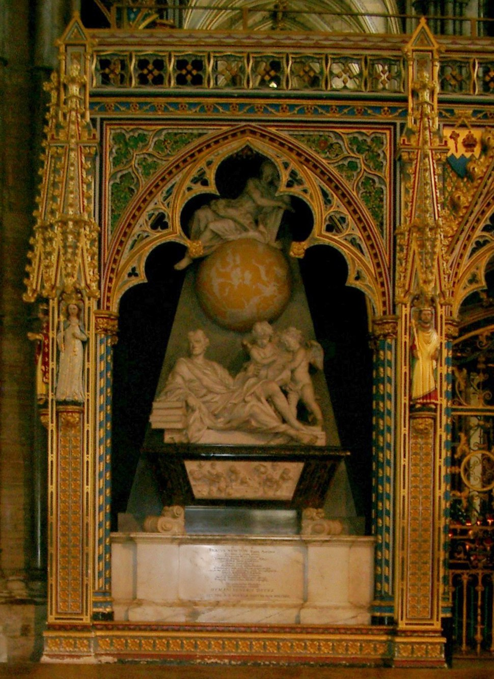 Isaac Newton grave in Westminster Abbey