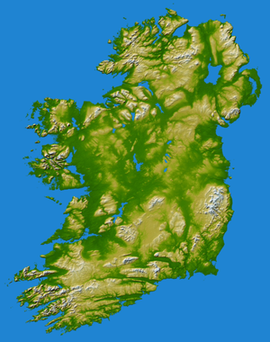 Protohistory of Ireland - Image: Island of Ireland NASA