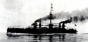 Italia-class ironclad - Lepanto in the Mediterranean Sea in the late 1880s