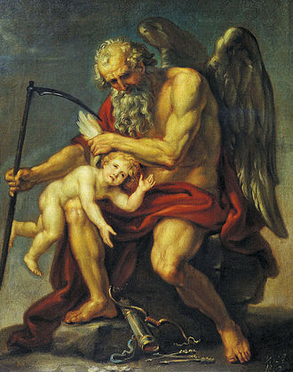Ivan Akimov - Saturn Clipping the Wings of Cupid (1802)