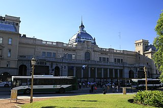 Railway station in Buenos Aires