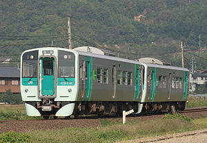JR Shikoku 1500 series - Car 1513 leading a 2-car formation, October 2008