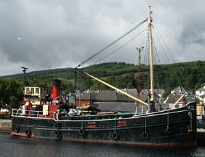 Clyde puffer - Steam Lighter VIC32, one of the last two seagoing coal-fired steam Clyde Puffers.