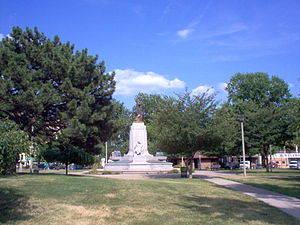 Jacksonville, Illinois - Civil War monument in Central Park