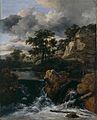 Jacob van Ruisdael - Huegellandschaft mit Wasserfall - 1665-70, Leinwand,70.7x56.4cm-Landesmuseum Hannover.jpg