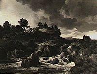 Jacob van Ruisdael - Landscape with Mountain Hut and Waterfall.jpg