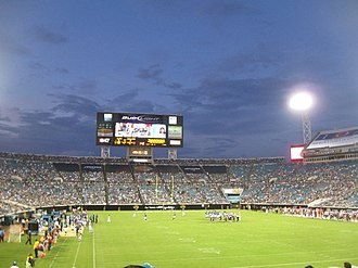 River City Relay - TIAA Bank Field (then ALLTEL Stadium), site of the game.