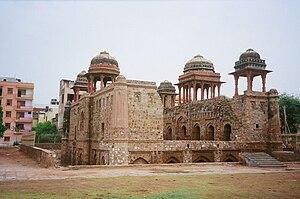 Jahaz Mahal - Jahaz Mahal on the bank of Hauz-i-Shamsi