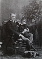 James Whitcomb Riley with nephew Edmund Eitel, 1891.jpg
