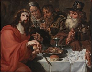 Jan Cossiers - The supper at Emmaus
