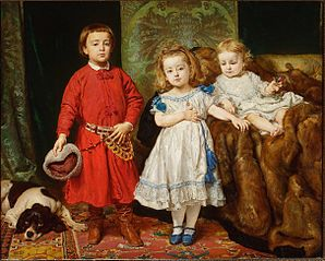 Portrait of artist's children: Tadeusz, Helena and Beata