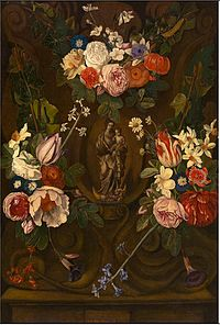 Jan Philip van Thielen - Madonna in a flower garland.jpg