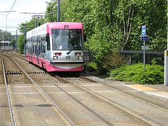 West Midlands Metro rolling stock - Image: Jewellery Quarter 2008 4