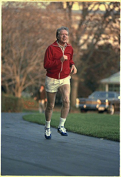 Jimmy Carter jogging