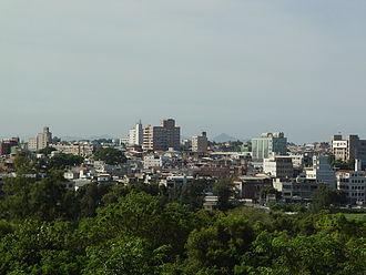 Jincheng, Kinmen - View of Downtown Jincheng from Mount Taiwu