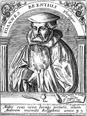 Johannes Brenz - Johannes Brenz, 17th century etching