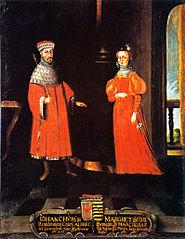 Johan Cicero, 1455-1499, kurfurste av Brandenburg. Margareta prinsessa av Sachsen