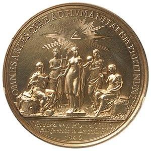 Teylers Tweede Genootschap - Silver prize medal of Teylers Second Society, designed by Johann Georg Holtzhey in 1778