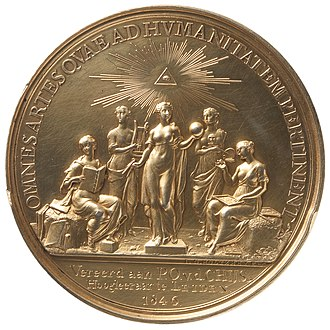 Pieter Otto van der Chijs - Silver prize medal of Teylers Second Society, awarded to Chijs in 1846.