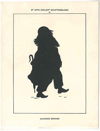 Otto Böhler - Image: Johannes Brahms Silhouette Otto Böhler