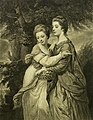 John Dixon (grabador), Joshua Reynolds (pintor) - Dos damas.jpg
