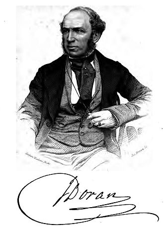 John Doran (writer) - John Doran, portrait engraved by Joseph Brown from a photograph.