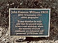 John Francon Williams FRGS commemorative plaque, Clackmannan Cemetery 2019.jpg