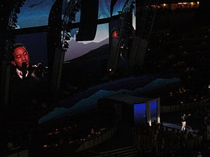 """If You're Out There - Legend performs """"If You're Out There"""" during the first night of the 2008 Democratic National Convention in Denver, Colorado."""