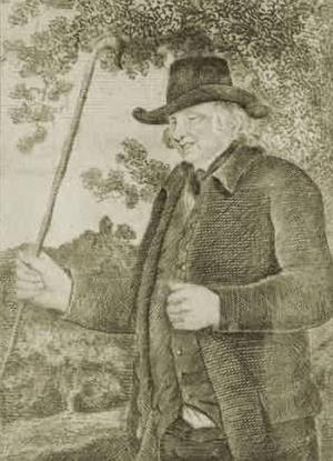 John Metcalf (civil engineer) - John Metcalf, also known as Blind Jack of Knaresborough. Drawn by J R Smith in the Life of John Metcalf published 1801.