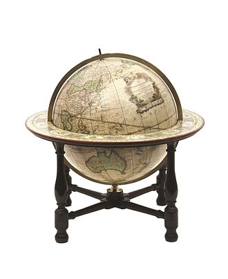 Globe - Image: John Newton and William Palmer SLNSW globe 1782