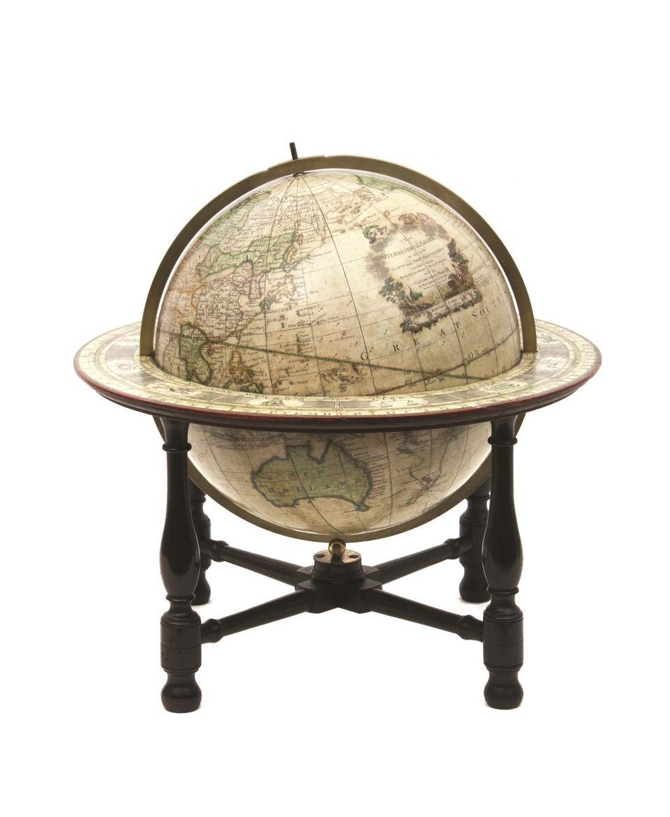 John Newton and William Palmer SLNSW globe 1782