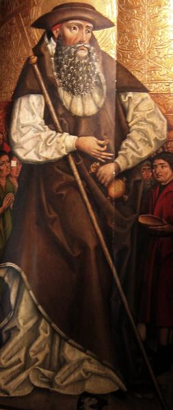 Den hellige Johannes Almissegiveren, maleri fra andre halvdel av 1400-tallet