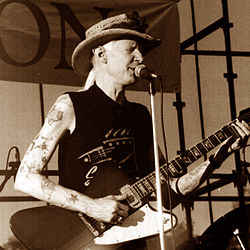 Johnny Winter nel 1990