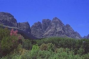 Jonkershoek Nature Reserve - Image: Jonkershoek Valley Twin Peaks