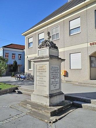 Rohrau, Austria - The Haydn monument in the center of Rohrau