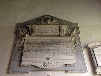 Joseph Yorke, 1st Baron Dover - Joseph Yorke memorial, St Andrew's Church, Wimpole, Cambridgeshire