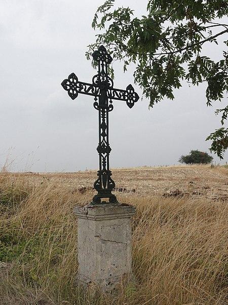 Jubécourt (Clermont-en-Argonne, Meuse) croix de chemin