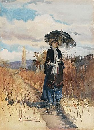 Julian Ashton - A solitary ramble (1888)