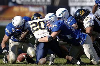 Justin Forsett - Forsett (no. 20) at the 2007 Armed Forces Bowl