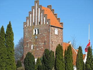 Jyderup town in Denmark