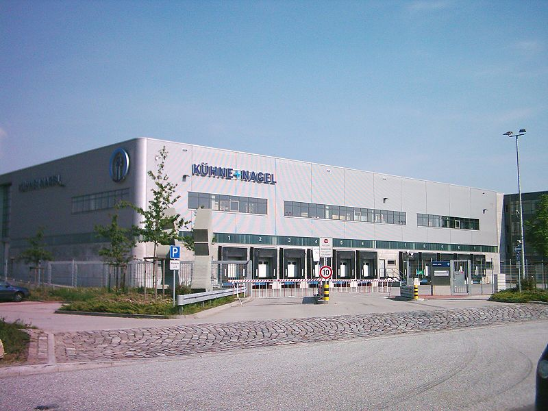 Distribution center of Kühne + Nagel in Hamburg, Germany.