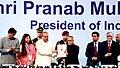 K. Sankaranarayanan presenting the Coffee Table Book ( A History of Advocate's Association of Western India) to the President, Shri Pranab Mukherjee.jpg