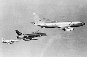 KC-135A refueling F-100F 612th TFS and A-4F VA-212 over Vietnam 1968.jpg