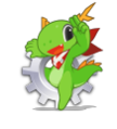 KDE mascot Konqi for KDE system settings.png