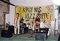 KPGT - 96 - Dragoslav Fredi Stanisavljevic (truba), Petar Radmilovic (bubnjevi), Branko Markovic (kontrabas), Ognjen Radivojevic (klavir).jpg