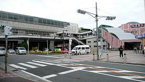 Kadoma-shi Station - Kadoma-shi Station south entrance, October 2007