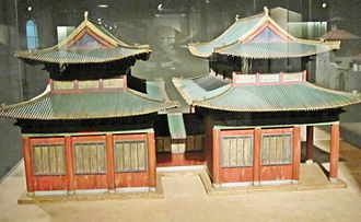 Kaifeng Jews - A model of the Kaifeng synagogue at the Diaspora Museum, Tel Aviv