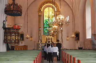 Kalix Church - Interior view towards the choir