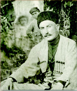 August Uprising - Colonel Kakutsa Cholokashvili, a guerrilla leader, during the rebellion